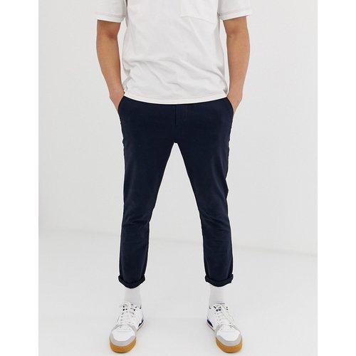 Pantalon chino court ajusté - Bleu marine - ASOS DESIGN - Modalova