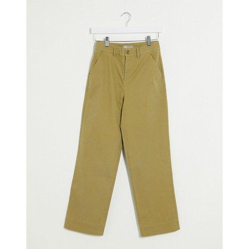 Pantalon chino droit - Sable - ASOS DESIGN - Modalova