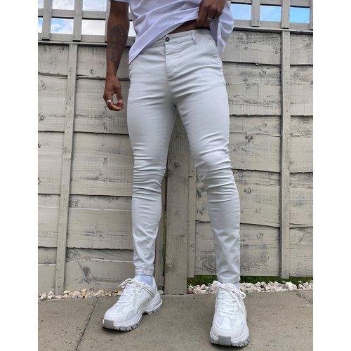 Pantalon chino en power stretch - glacé - ASOS DESIGN - Modalova