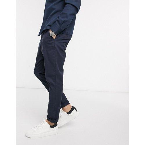 Pantalon chino fuselé - Bleu marine - ASOS DESIGN - Modalova