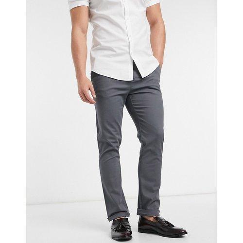 Pantalon chino slim - Anthracite - ASOS DESIGN - Modalova