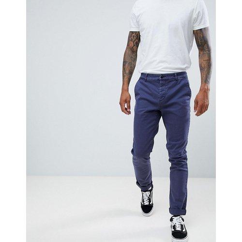 Pantalon chino slim avec revers - Délavage foncé - ASOS DESIGN - Modalova