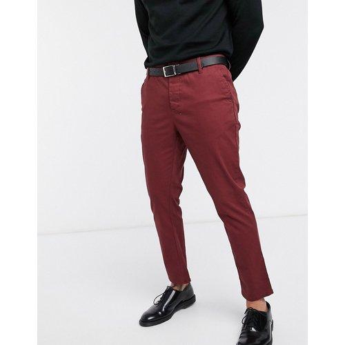 Pantalon chino slim longueur cheville - Bordeaux - ASOS DESIGN - Modalova