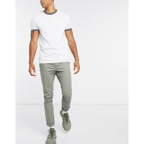 Pantalon chino super skinny - Kaki - ASOS DESIGN - Modalova