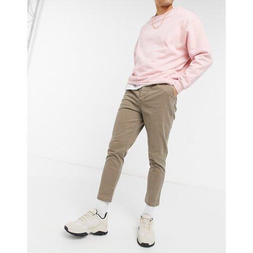 Pantalon chino taille haute coupe cigarette - délavé - ASOS DESIGN - Modalova