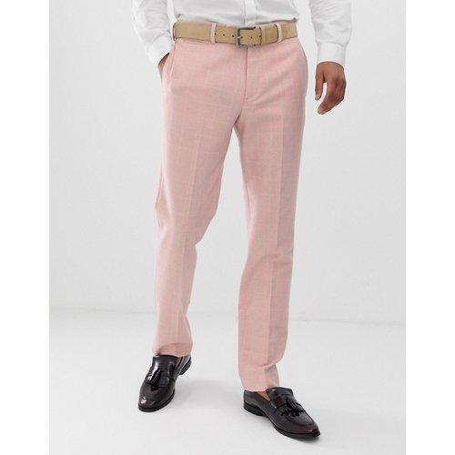Pantalon de costume ajusté pour mariage en laine mélangée à carreaux - ASOS DESIGN - Modalova