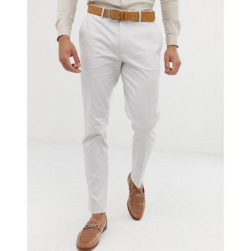 Pantalon de costume de mariage coupe skinny en coton stretch - glacé - ASOS DESIGN - Modalova