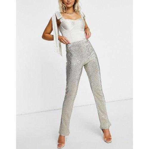 Pantalon de costume évasé en jersey scintillant - ASOS DESIGN - Modalova