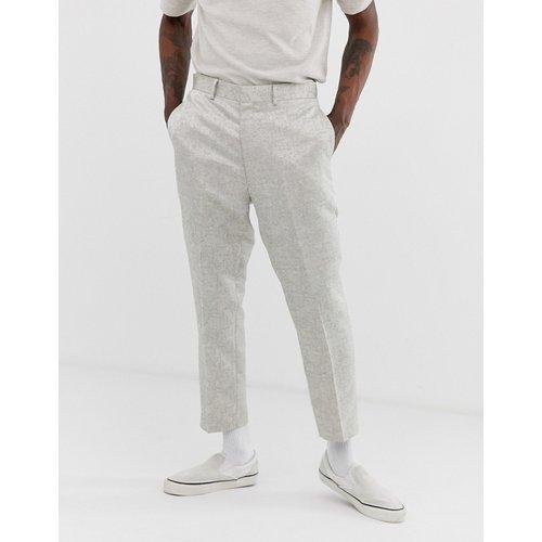 Pantalon de costume fuselé en jacquard - ASOS DESIGN - Modalova