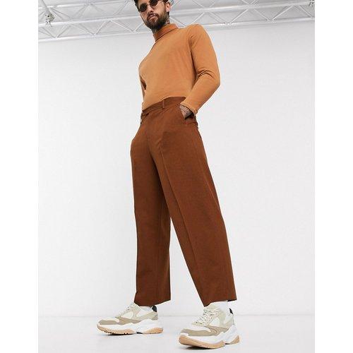 Pantalon de costume large coupe courte - Camel - ASOS DESIGN - Modalova