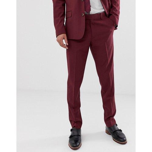 Pantalon de costume slim - Bordeaux - ASOS DESIGN - Modalova