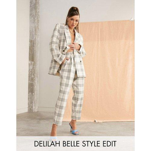 Pantalon de costume slim - Carreaux clairs - ASOS DESIGN - Modalova