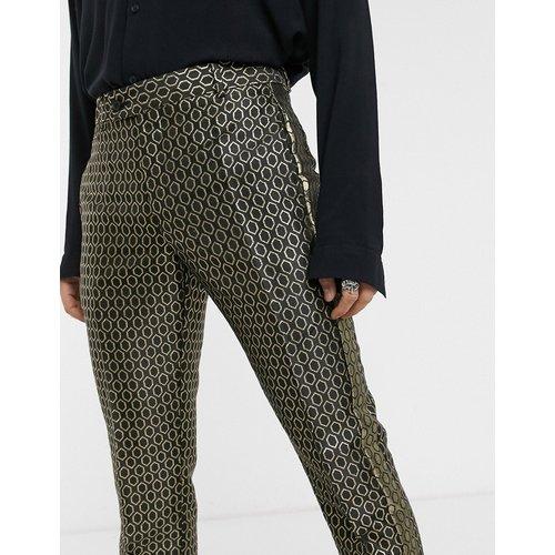 Pantalon de costume slim élégant en jacquard motif losange - ASOS DESIGN - Modalova