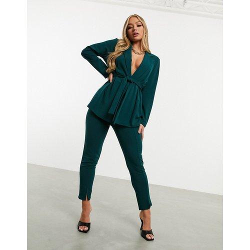 Pantalon de costume slim en jersey - forêt - ASOS DESIGN - Modalova