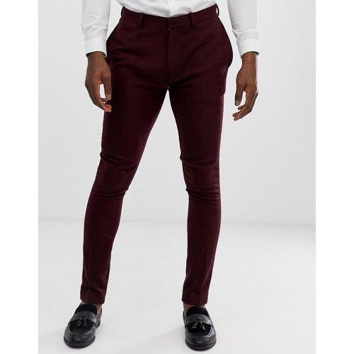 Pantalon de costume super slim de mariage en sergé - Bordeaux - ASOS DESIGN - Modalova