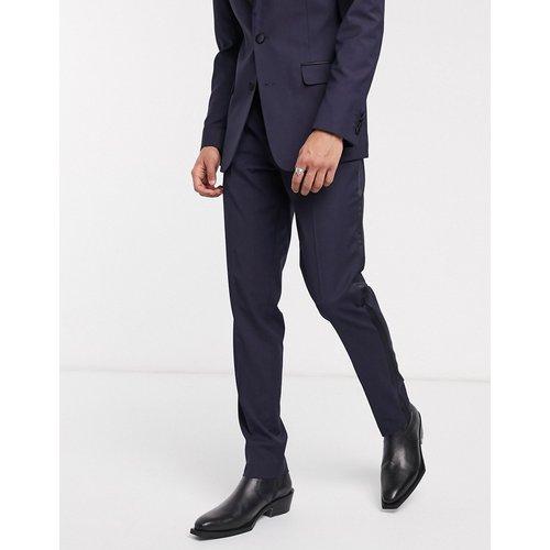 Pantalon de smoking slim - Bleu marine - ASOS DESIGN - Modalova
