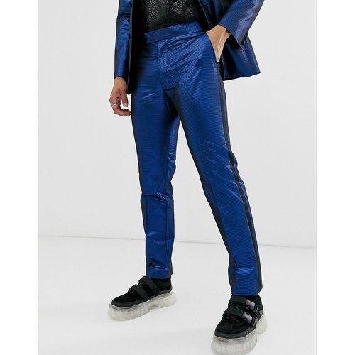 Pantalon de smoking slim en jacquard - métallisé - ASOS DESIGN - Modalova