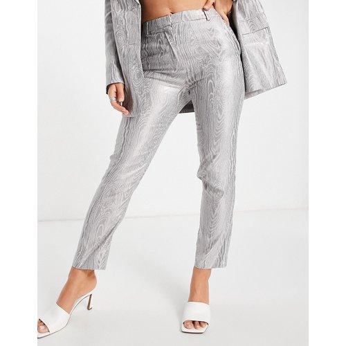 Pantalon de tailleur en moire - Métallique - ASOS DESIGN - Modalova
