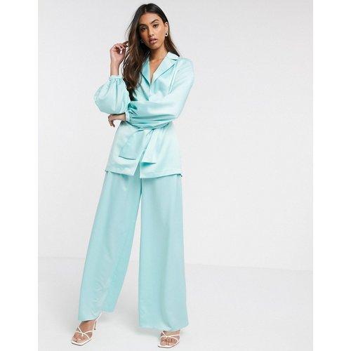 Pantalon de tailleur large en satin souple - ASOS DESIGN - Modalova