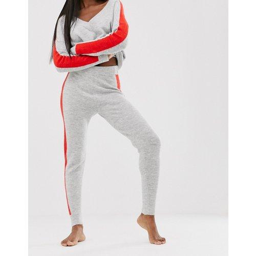 Pantalon d'ensemble de jogging en maille à liserés - ASOS DESIGN - Modalova
