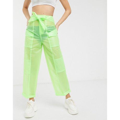 Pantalon en PU transparent avec ceinture - ASOS DESIGN - Modalova