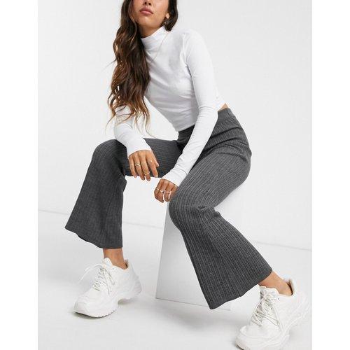 Pantalon évasé d'ensemble en maille - ASOS DESIGN - Modalova
