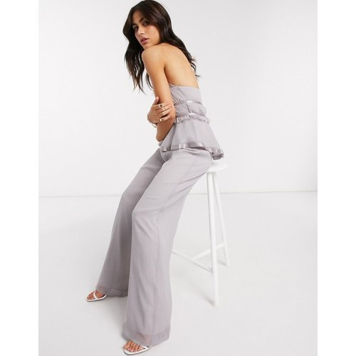 Pantalon fluide large d'ensemble - Lilas - ASOS DESIGN - Modalova