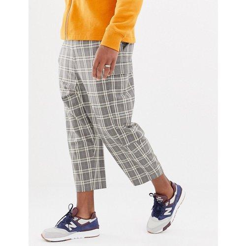 Pantalon habillé coupe fuselé à entrejambe bas - Carreaux - ASOS DESIGN - Modalova