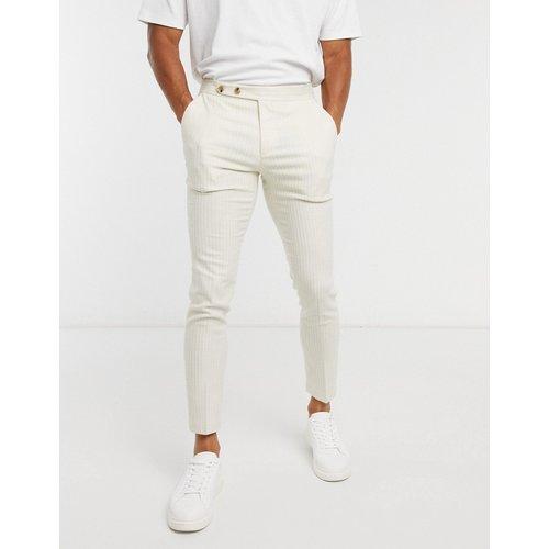 Pantalon habillé ultra slim à fines rayures avec taille travaillée - cassé - ASOS DESIGN - Modalova