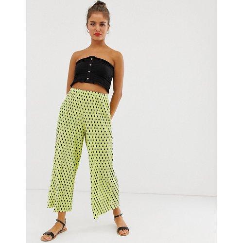 Pantalon jupe-culotte plissé à pois - ASOS DESIGN - Modalova