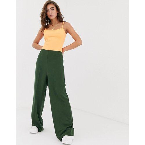 Pantalon large à taille haute épurée - ASOS DESIGN - Modalova