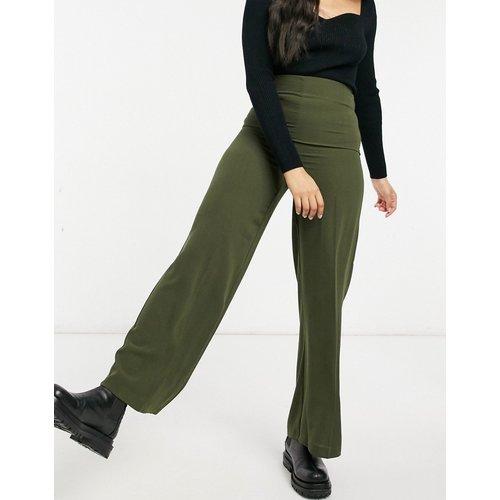Pantalon large à taille haute épurée - Kaki - ASOS DESIGN - Modalova