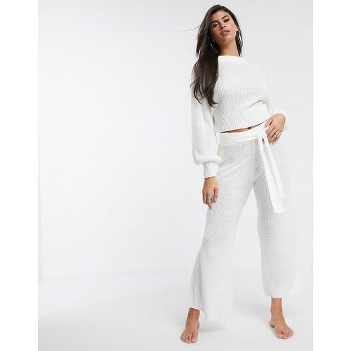 Pantalon large confort en maille de qualité supérieure - ASOS DESIGN - Modalova