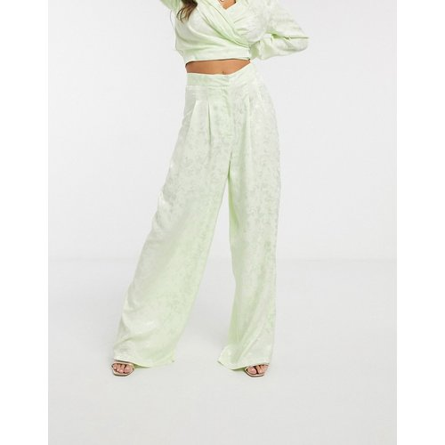 Pantalon large d'ensemble en jacquard doux - ASOS DESIGN - Modalova