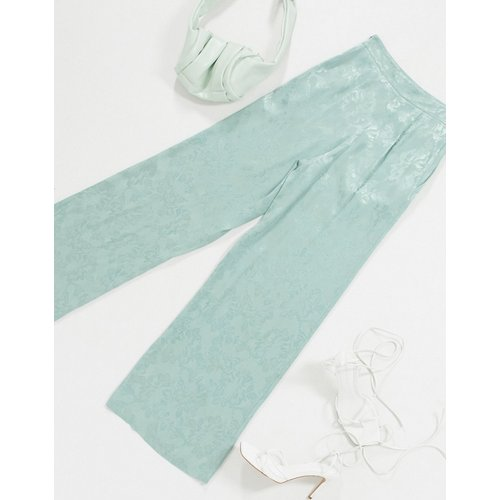 Pantalon large en jacquard à motif fleuri - ASOS DESIGN - Modalova
