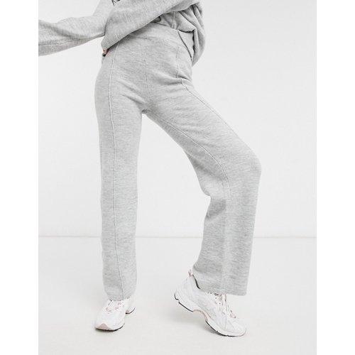 Pantalon large en maille (ensemble) - chiné - ASOS DESIGN - Modalova