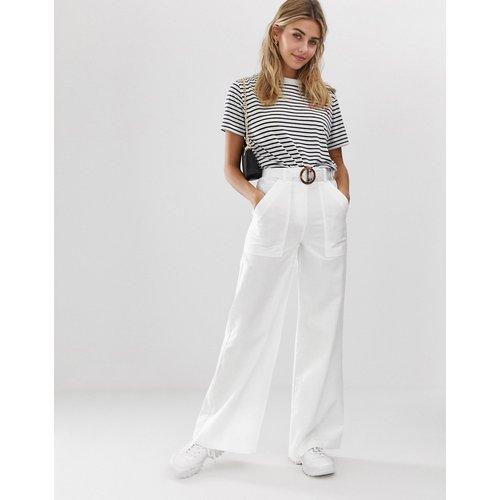 Pantalon large et évasé avec ceinture - ASOS DESIGN - Modalova