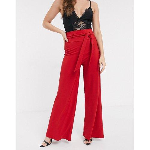 Pantalon large façon bandes avec ceinture - ASOS DESIGN - Modalova