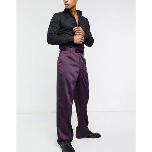 Pantalon large habillé taille hauteen satin - ASOS DESIGN - Modalova