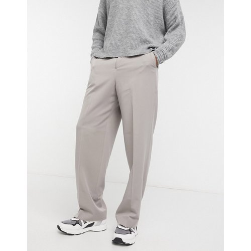 Pantalon large habillé - Taupe - ASOS DESIGN - Modalova