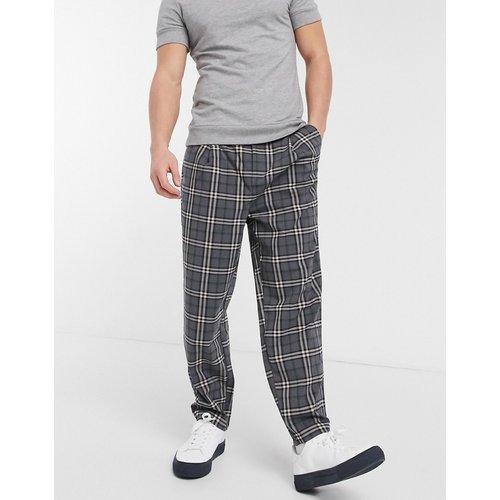 Pantalon large plissé à carreaux - ASOS DESIGN - Modalova