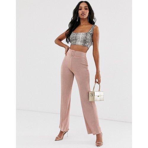 Pantalon large près du corps avec ceinture à nouer - ASOS DESIGN - Modalova
