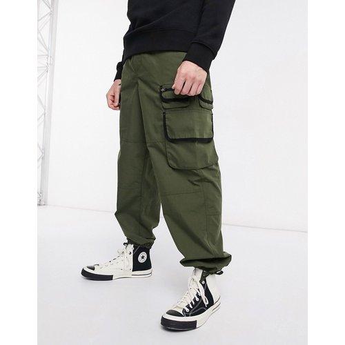 Pantalon large style fonctionnel - Kaki - ASOS DESIGN - Modalova
