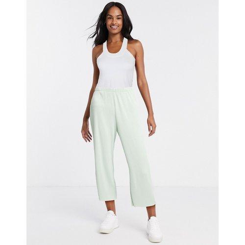 Pantalon plissé style jupe-culotte - sauge - ASOS DESIGN - Modalova