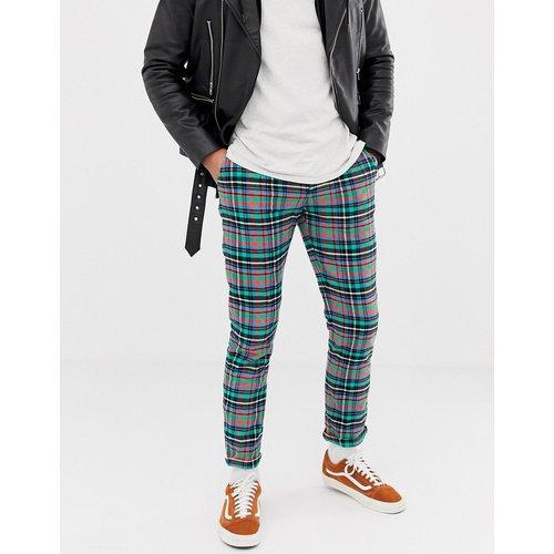 Pantalon slim à carreaux de couleur vive - ASOS DESIGN - Modalova