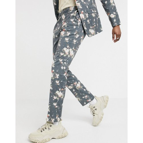 Pantalon slim à fleurs - Bleu marine - ASOS DESIGN - Modalova