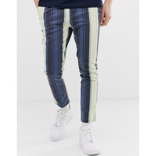Pantalon slim à grosses rayures effet délavé - ASOS DESIGN - Modalova
