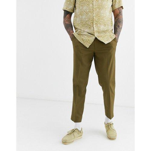 Pantalon slim court habillé - Olive - ASOS DESIGN - Modalova