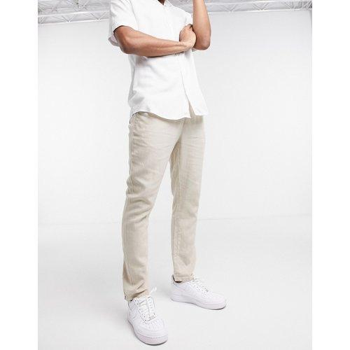 Pantalon slim en lin - ASOS DESIGN - Modalova