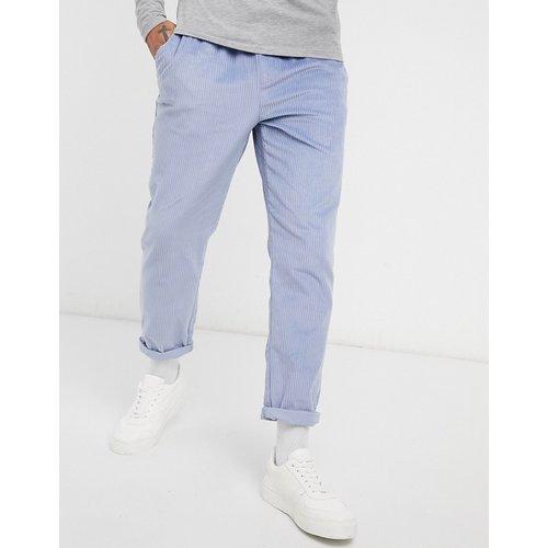 Pantalon slim en velours côtelé - cendré - ASOS DESIGN - Modalova